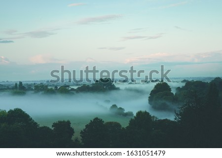 Morning mist over Richmond Park London