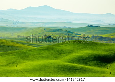 morning on countryside in Tuscany - Shutterstock ID 141842917