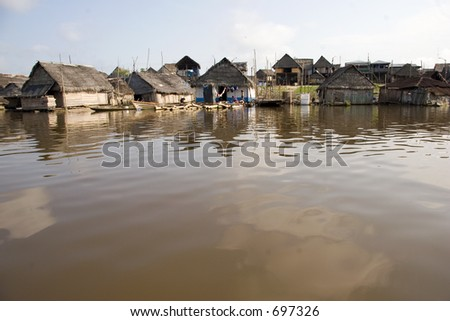 Morning on the Belen river in Iquitos, Peru (Amazon)