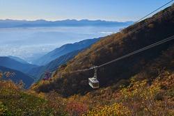 Morning scenery on the southeast side of Komagatake Ropeway Senjojiki Station, Komagane City, Nagano Prefecture