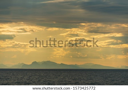 morning seascapes on a ferry, from Lofoten Islands to Bodo #1573425772