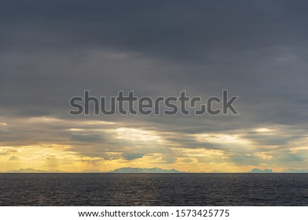 morning seascapes on a ferry, from Lofoten Islands to Bodo #1573425775