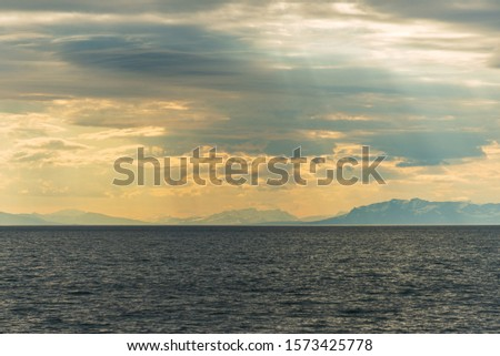 morning seascapes on a ferry, from Lofoten Islands to Bodo #1573425778