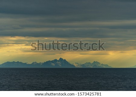 morning seascapes on a ferry, from Lofoten Islands to Bodo #1573425781