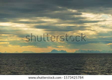 morning seascapes on a ferry, from Lofoten Islands to Bodo #1573425784