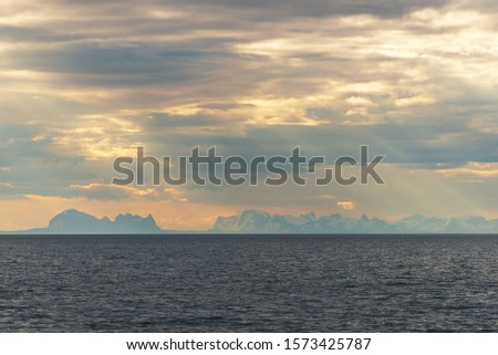 morning seascapes on a ferry, from Lofoten Islands to Bodo #1573425787