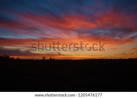 morning sky in autumn #1205476177