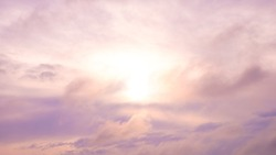 morning sun in the clouds, gloomy sky.