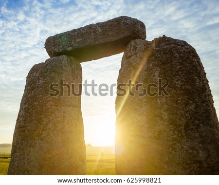 Morning Sun Through a Stonehenge Arch
