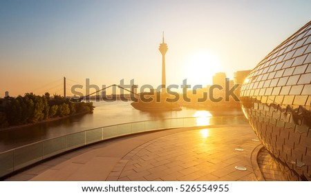 morning sunlight at dusseldorf in germany #526554955