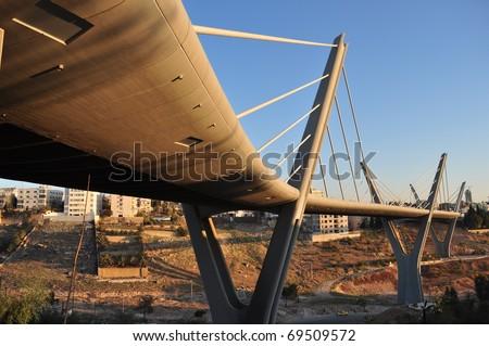Morning Sunshine on a Bridge in Amman ,Jordan