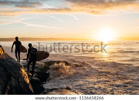 Morning Surf in Santa Cruz, CA