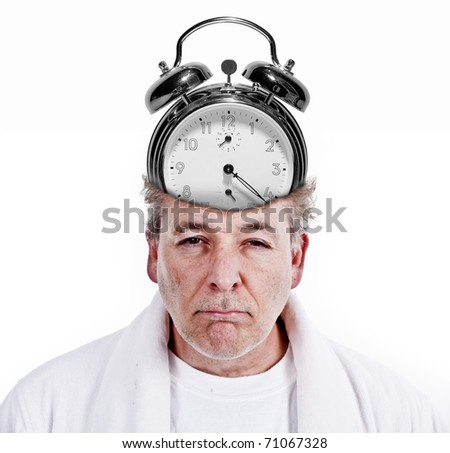 Morning time insomnia - stock photo