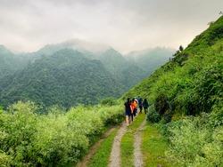 Morning trekking is the best. Dehradun Uttarakhand