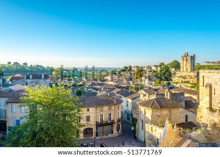 Morning view at the Saint Emilion in France