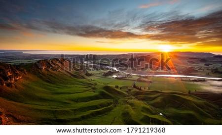 Morning view from Te Mata Peak, Hawke's Bay, New Zealand Сток-фото ©