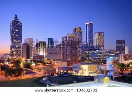 Morning view of downtown Atlanta, Georgia, USA.