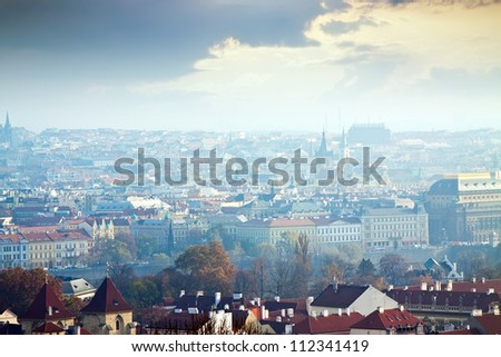 Morning view of Prague, Czech Republic