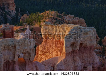 Morning view of the famous Bryce Canyon National Park from Sunrise Point at Utah #1432801553