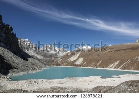 Morning view of the fourth Gokyo lake ( Thonak Tsho ) - Nepal, Himalayas