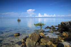 Morning View on the Shores of Air Saga Beach