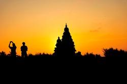 Mornings at Mahabalipuram shore temple