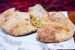 Moroccan bread with sesame seeds