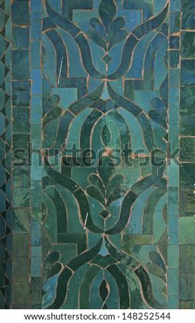 Moroccan Darj W Wtaf Tile Pattern tile pattern in a  riad Fes Morocco