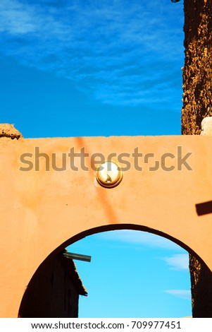 moroccan old wall and brick in antique city #709977451