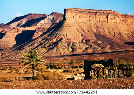 Moroccan ruins in Atlas Mountains, Morocco, Africa