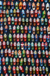 Moroccan shoes handmade magnetic souvenirs texture