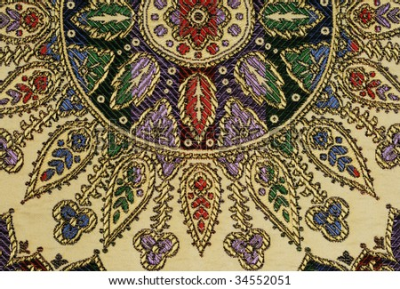 Moroccan silk tapestry