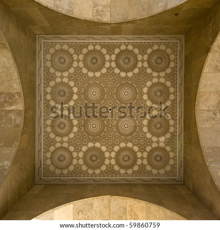 Moroccan style stucco and ceramic - square frame - Best of Morocco
