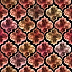 Moroccan style tiles inspired seamless pattern, super high resolution for any size options. Ideal for wallpapers, textiles, wrapping papers, web design, scrapbooking etc.