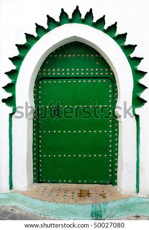 Moroccan traditional door of Moorish design