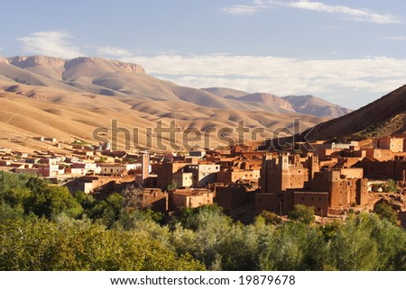 Moroccan village in the mountains