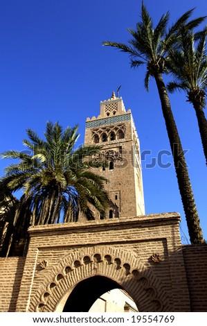 Morocco, Marrakesh, mosque of Koutoubia