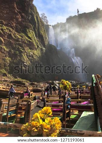 Morocco Oum Rabia Waterfalls Stock photo ©