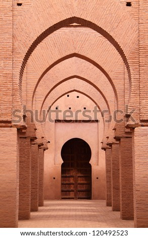Morocco 12th Century Tin Mel or Tinmal Mosque in the High Atlas Mountains - UNESCO World Heritage Site.