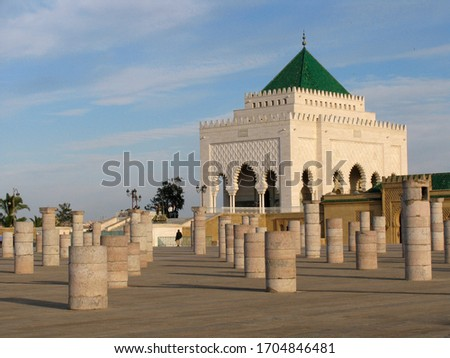 Morocco. The great mausoleum of Mohammed V Stock fotó ©