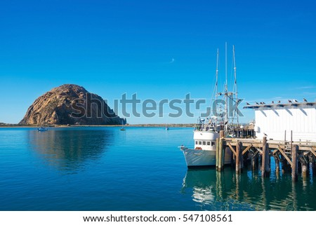 Morro Bay Harbor, Morro Bay Rock - San Luis Obispo, California Central Coast