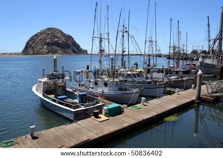 Morro Rock and Morro Bay, Big Sur, California, USA