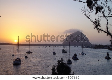 Morro Rock, in Morro Bay, Central California