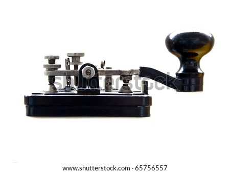 Morse key isolated on white