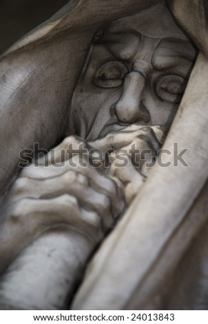 mortal statue closeup