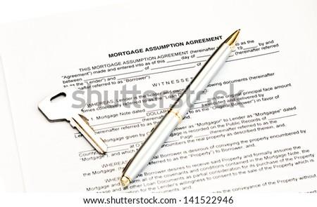 Mortgage Assumption Agreement With A Pen For Signature Ez Canvas