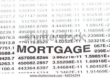 Mortgage Rate all numbers for background use.