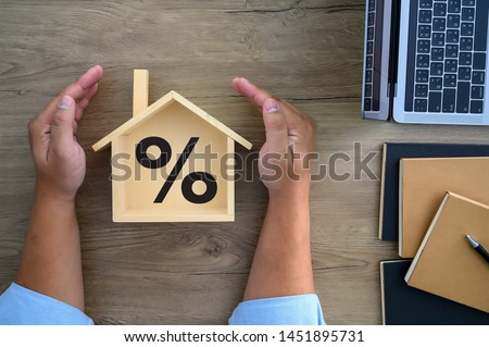 Mortgage rates business concept of investment housing  real estate interest rates 3d home appraisal