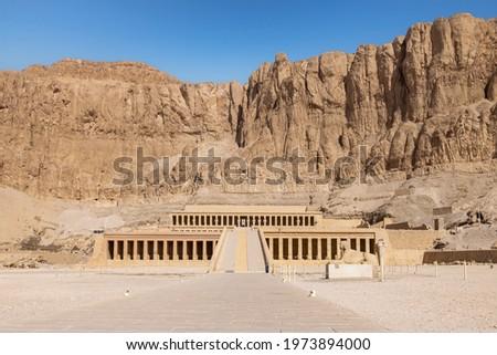 Mortuary Temple of Hatshepsut, Deir el-Bahari, Theban Necropolis (UNESCO World Heritage List, 1979), Luxor, Egypt. Egyptian civilisation, New Kingdom, Dynasty XVIII. Stock photo ©