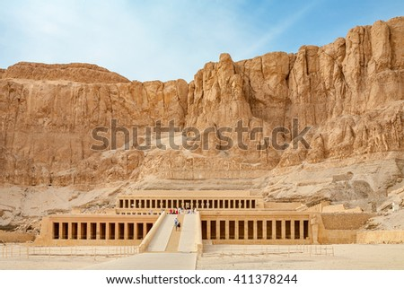 Mortuary Temple of Queen Hatshepsut. West Bank, Luxor, Nile Valley, Egypt #411378244